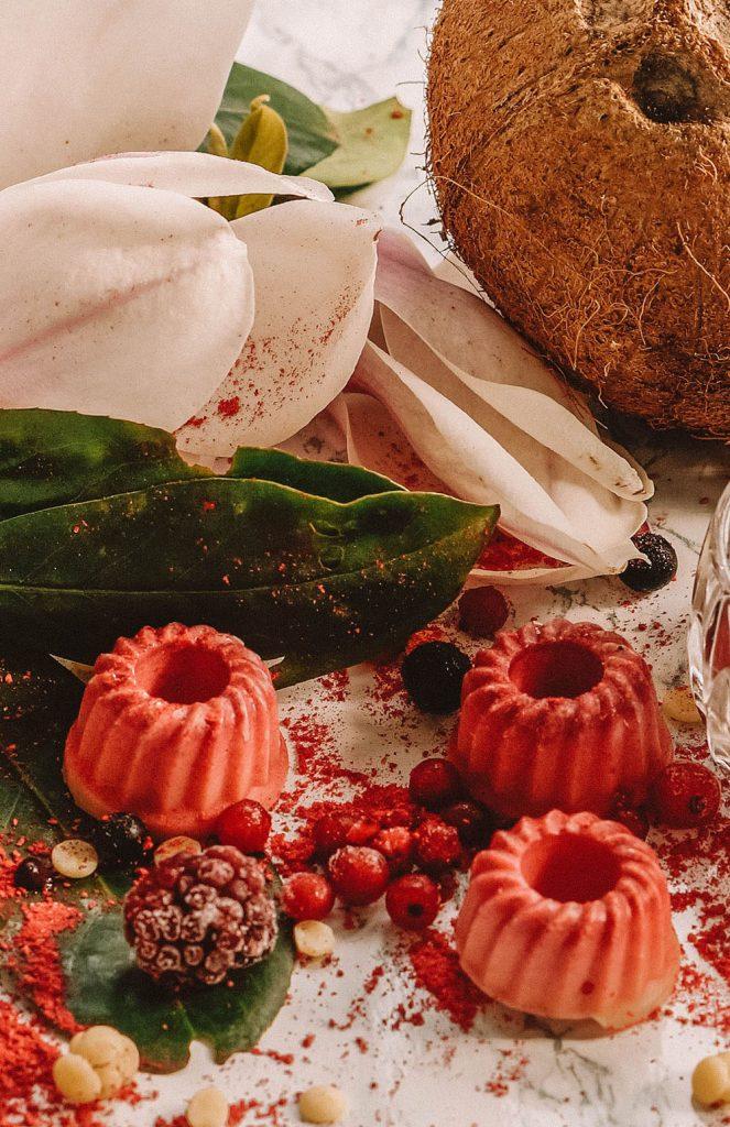 Vegan White raspberry Summer Chocolates