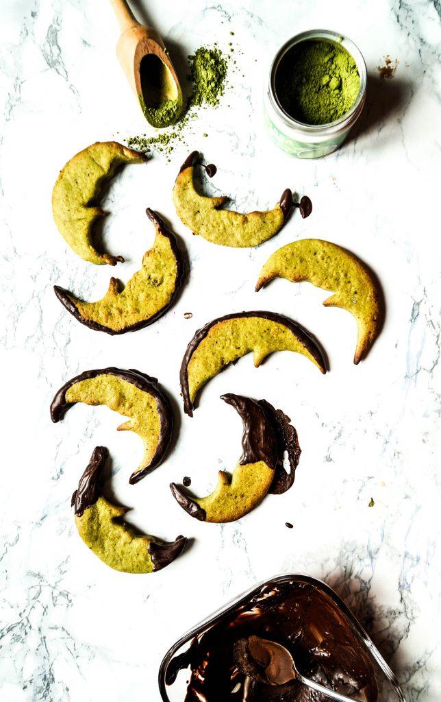 Vegan Matcha Moons Cookie Refined Sugarfree
