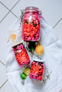Fermented Rainbow Veggie Jars