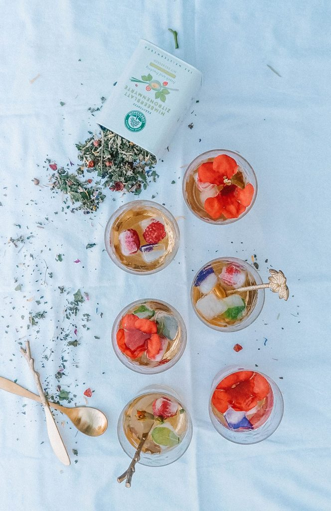 Homemade Flower Iced Tea Sugarfree Vegan