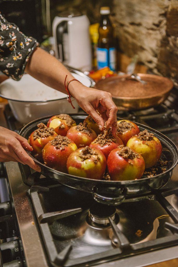 Healthy stuffed Apples
