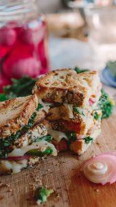 Vegan Grilled Avocado Cheese Sandwich