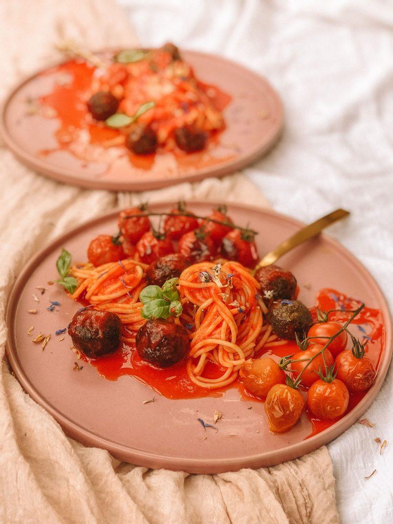 Vegan Mushroom Meatballs