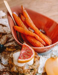 Honey Garlic Carrots Antipasti