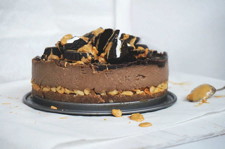 Peanutbutter Chocolate Cheesecake Vegan