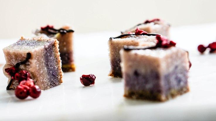 Blueberry Almond Cheesecake