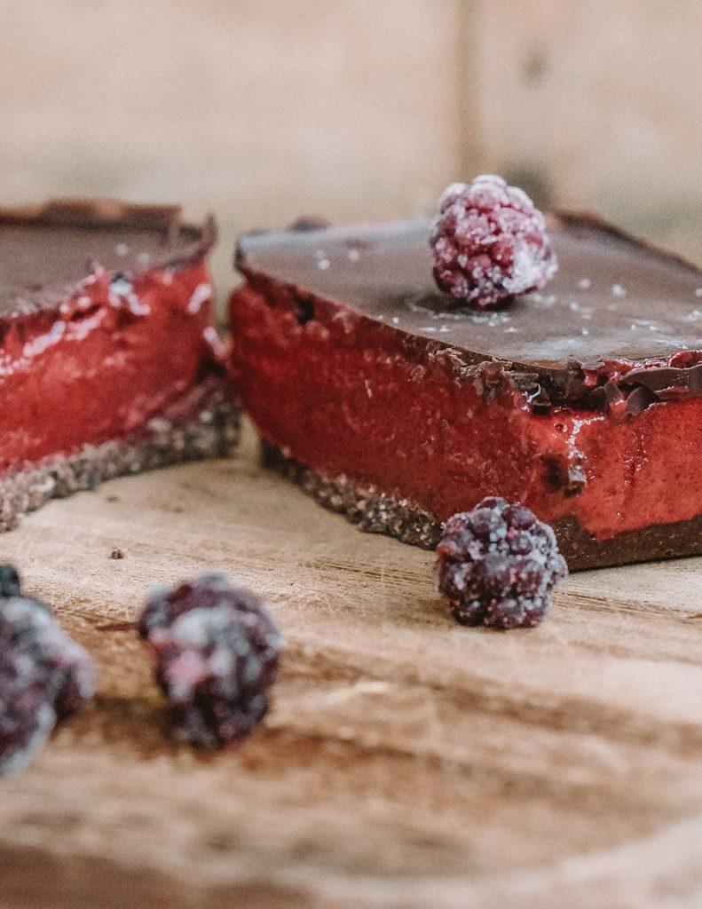 No-Bake Boysenberry Chocolate Bars