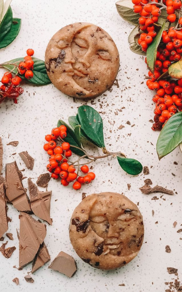 Glutenfree No-Bake Cookie Dough Moons
