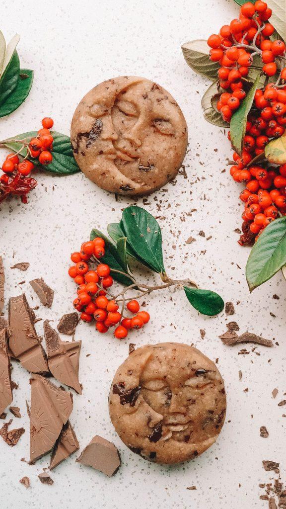 No-Bake Cookie Dough Moons Christmas