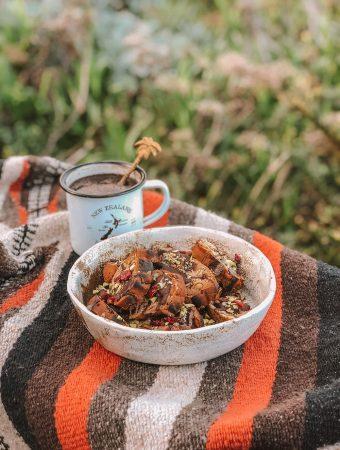 Vegan Pistachio Cranberry Cantuccini